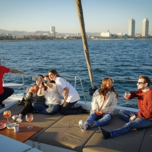Barcelona Catamaran Experience Sunset 2 Hours