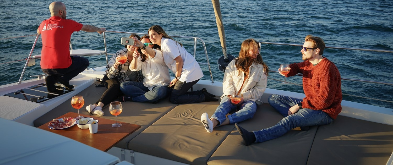 Barcelona catamaran sunset experience